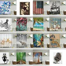 Shower Curtain Bathroom Decor Waterproof Polyester Fabric Drapes with 12 Hooks