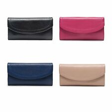 4-colors,Elegant Leather Lady Long Clutch Wallet Case Purse Evening Trifold Gift