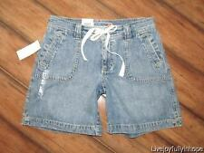 "OLD NAVY ~ NEW! NWT Size 1 ~ Drawstring Denim Jeans 6"" Inseam Shorts 2"