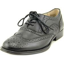 Wanted Babe Women  Moc Toe Synthetic Black Oxford