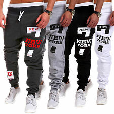 Mens Casual Skinny Slim Harem Pants Jogger Sport Sweatpants Baggy Track Trousers