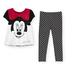 Disney Baby 2 Piece Minnie Face and Dot Set with Babydoll Top and Pant
