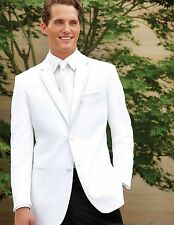 White Perry Ellis Virgo Tuxedo Dinner Jacket Prom Wedding Groom Outfit Cuise
