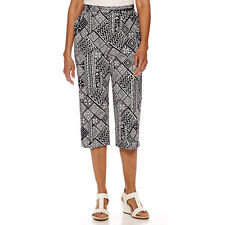 Alfred Dunner Geometric Print Capris Navy Size 14 Msrp $44.00 New
