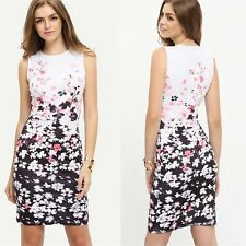Women Summer Bodycon Floral Printed Dress Evening Party Cocktail Short New