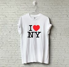 New Mens Or Womens Fitted Cool I LOVE HEART NY USA T-SHIRT Tee Novelty Souvenir