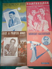 SHEET MUSIC 1930's, 1940's & 1950's, 50 DIFFERENT USED,