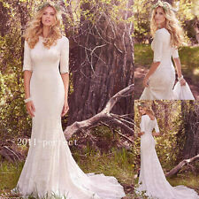 Mermaid Beach Wedding Dresses Consize Outdoor Bridal Gowns Custom White Ivory