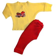 Baby Boys' Happy Fire Truck 2 Piece Clothing Outfit 4 Preemie and Newborn Sizes