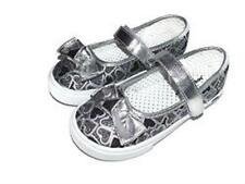 Girl's Toddler JUMPING BEANS LINZY Silver/ Black Mary Janes Flats Shoes New