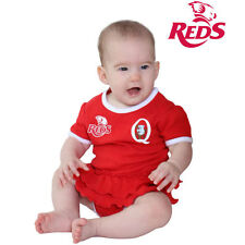 QLD Reds Baby Girls Footysuit Sizes 000 - 0