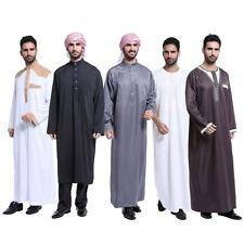 Trendy Men Saudi Thobe Galabeya Thoub Abaya Dishdasha Arabic Kaftan Muslim Dress