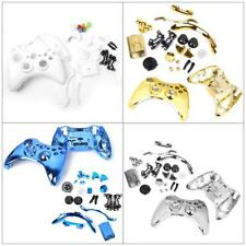 Chrome Protective Controller Case Shell & Full Button Set for Xbox 360