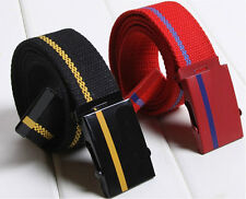 Unisex Casual Multi Color Canvas Webbing Belt Wide Belts Army Military Style SK