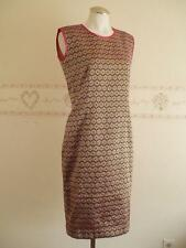 Vintage 60's/70's Ethnic Asian Gold Metallic Thread Embroidered Sleeveless Dress