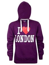 New Mens I Love London Casual Workwear Fleece Hoodie Sweatshirt Hooded Top Small