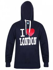 New Mens I Love London Fleece Hoodie Sweatshirt Casual Workwear Hooded Top Small