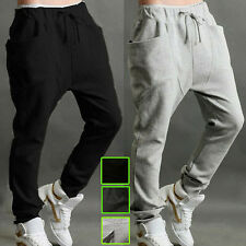 Mens Jogger Long Harem Sport Pants Baggy Casual Hip Hop Jogging Trousers Slacks