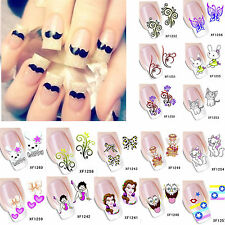 Flower Cartoon Nail Art Stickers Decal Water Transfer Manicure 3D Decoration
