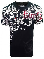 SKULL SHIED T SHIRT FALLEN ANGEL MEN'S ALL OVER PRINT MMA BIKER SERIES MENS