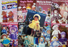 * Vintage CROCHET DOLL & CLOTHING & PROJECTS & Cupie Pattern Books YOU CHOOSE
