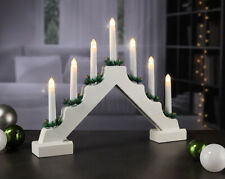 Wooden Pre-Lit Candle Bridge Arch Window Christmas Tree Decoration Light Xmas
