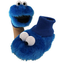 Sesame Street Cookie Monster Boys Girls Sock Top Puppet Slippers STBF3947SS