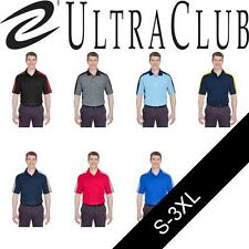 UltraClub Mens Cool & Dry Stain-Release 2-Tone Polo Shirt. 8447