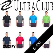 UltraClub Mens Cool & Dry Box Jacquard Polo. 8250