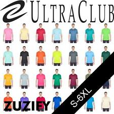 UltraClub Mens Cool-N-Dry Interlock Short-Sleeve Performance T-Shirt. 8420
