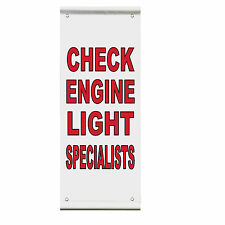 Check Engine Light Specialists Business Double Sided Vertical Pole Banner Sign