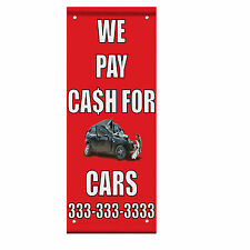 We Pay Cash For Junk Cars With Image Style 2 Double Sided Pole Banner Sign