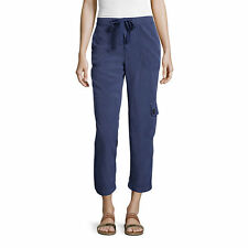 Liz Claiborne Cargo Cropped Pants Size 14 New Msrp $48.00 Navy Blue