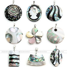 Unique Abalone Shell Natural MOP Shell Bead Pendant For Long Chain Necklace Gift