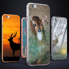 Sika Deer Print Phone Case Cover for iPhone 5 6S 7 Plus Samsung Galaxy Rapture