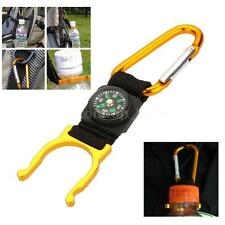 Convenient!Outdoor Hook Carabiner Compass Water Bottle Buckle Holder Clip W6P9