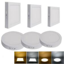 Surface Mounted LED Panel Light Square Round Ceiling Downlight Wall Lamp 6-24W