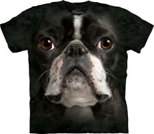 The Mountain Boston Terrier Face Dog Pet Animal Adult Mens T Shirt 103367