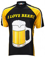 I LOVE BEER Cycling Jersey World Jerseys Mens short sleeve + socks bike bicycle