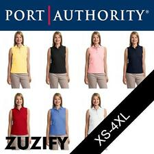 """Port Authority Ladies """"Silk Touch"""" Sleeveless Polo Shirt. L500SVLS"""
