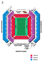 2 TICKETS CHICAGO BEARS @ TAMPA BAY BUCCANEERS SEC.310 50 YARD LINE ROW A