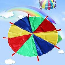 New 2M/3M Children Kids Rainbow Parachute Outdoor Sport Exercise Group Game Toy
