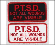 1 PTSD NOT ALL WOUNDS ARE VISIBLE SERVICE DOG PATCH 2X4 Danny & LuAnns Embroider