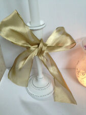 JUST GOLD sateen / organza wedding 63mm - Absolute Luxury Wire Edged Ribbon