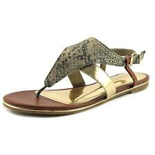 Kenneth Cole Reaction Mel-inda Women  Open Toe Leather Brown Thong Sandal