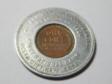 1919 Encased Wheat Cent  - 1921 First National Bank  Ocean City NJ