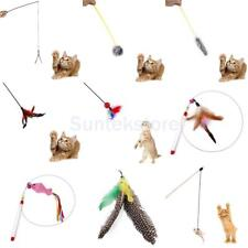 Kitten Cat Pet Toy Chaser Wand Teaser Feather Bell Interactive Play Fun PICK