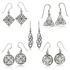 Various 925 Sterling Silver Celtic Knot,Triquetra, Heart Knot Dangle Earrings