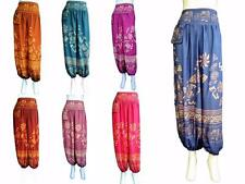 Mens Ladies Gypsy Boho Harem Casual Trousers /Festival Pants With Thai Elephants