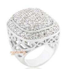 Size: 6 -10 Gorgeous 18K WGP Pave CZ Statement Ring #966
